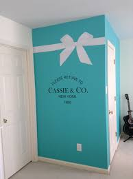 Tiffany Blue Room Ideas Pinterest by My Daughter Cassie U0027s New Tiffany Inspired Room Wall Decals My