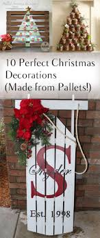 10 Christmas Decorations Made From Pallets Wood Pallet CraftsPallet