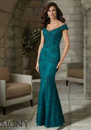 stretch lace evening gown with beading style 71201 morilee