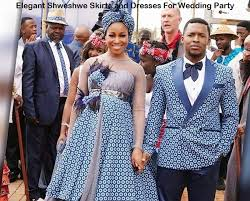 Mordenised Seshweshwe Outfits For A Couple