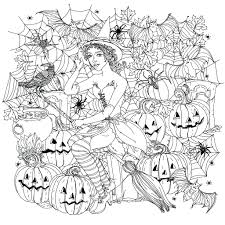 Disney Princess Halloween Coloring Pages Free To Print Printable Scary Adults Full Size