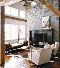 Living Room With Fireplace Design by 30 Stone Fireplace Ideas For A Cozy Nature Inspired Home