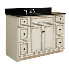 White French Country Bathroom Vanity by Vintage Modern Mash Up