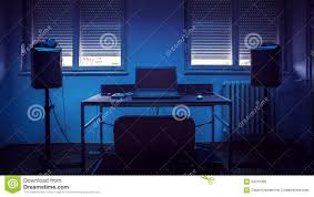 Simple Home Recording Studio Stock Image