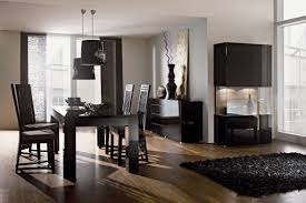 Dining RoomContemporary Room Set Four Black Leather Chair And Staggering Images Contemporary