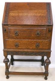 oak writing bureau uk small oak 1920 s carved writing bureau 160076 sellingantiques