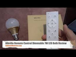 albrillo remote dimmable 7w led bulb review