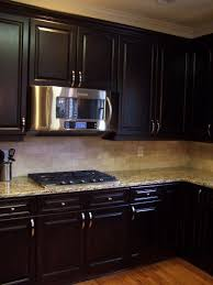 Gel Stain Cabinets Pinterest by Espresso Stained Kitchen Cabinetry Kitchen Cabinetry General