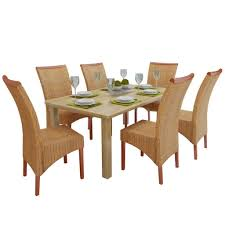 Amazon.com - 6 Pieces Genuine Rattan Wicker Dining Chairs ... Intercon Solid Mango Wood Ding Set Kona Inka4278bset Drift Table 4 Grey Chairs Vidaxl 6 Pcs For Sale In Uk Preloved Fresh Italian White Cafe Logo Fabric Rosen Chair Available Raw Or Hand Painted Of 2 100 Natural 6seater With Bench Metal 2019 Home Sweet Butterfly Room Topbathroomco Jaipur Dakota Walnut Geneva Pair Kubu Rattan And