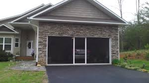 Roll Up Patio Screens by Garage Door Lifestyle In Garage Screen Door Screens Retractable