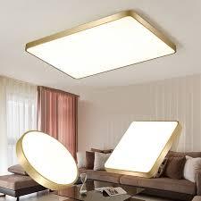 goldene flache led deckenleuchte einfache moderne wohnzimmer