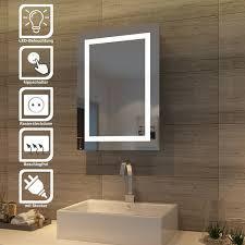 led spiegelschrank mit schiebetür badezimmerspiegel