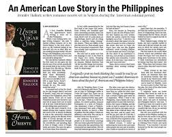 Manila Philippines Bulletin Newspaper Article On Steamy Historical Romance Sugar Sun Series