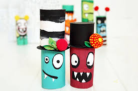 25 Creative Out Of Waste Material Crafts For Kids Handmade Using Materials