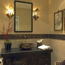 bathroom tile the idea of tiling half wall with colored ideas