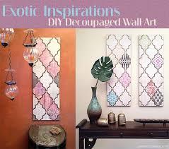 How Create DIY Decoupage Wall Art
