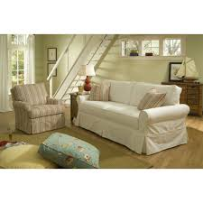 Custom Slipcovers For Sectional Sofas by Furniture Modern Love Seat Sofa With Cream Fabric Slip Cover With