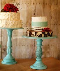 Rustic Tall Pedestal Serving Cake Stands