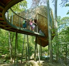 100 Tree House Studio Wood Slender Pine Slats Enclose Evans In Arkansas By