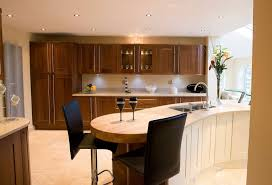 Design Engaging Image Of Kitchen Decoration With Small Wooden Bar Amusing Modern