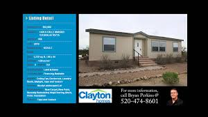 2010 Clayton Home Floor Plans by Repo Homes For Sale Tucson Clayton Homes Youtube