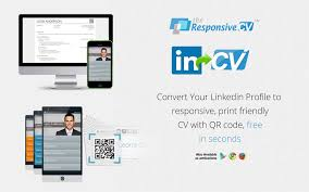 responsive cv resume maker from linkedin chrome web store