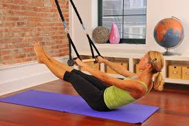 Pilates Stretch With Bar At Home Stock Image