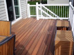 fiberon ipe decking with white vinyl rails decks pinterest