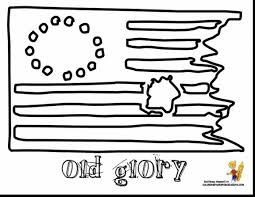 Extraordinary Coloring Page The First American Flag Get This With And