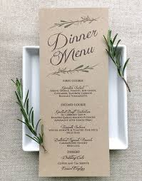 Wedding Invitation Wording No Sit Down Dinner Inspirational This Menu Card Matches The Rest Of Rustic