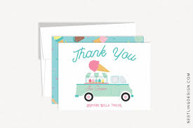100 Ice Cream Truck Names Thank You Cards Nestling Design