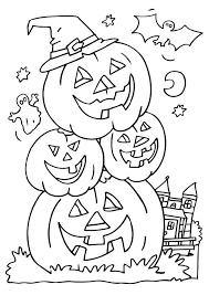Unique Halloween Coloring Page 01