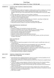 Download Pool Technician Resume Sample As Image File