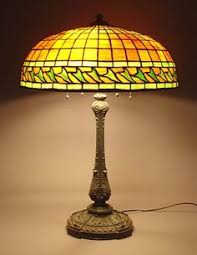 an arrowhead table lamp circa 1910 tiffany lighting