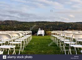Outdoor Wedding Reception, Service Arrangements, Chairs ...