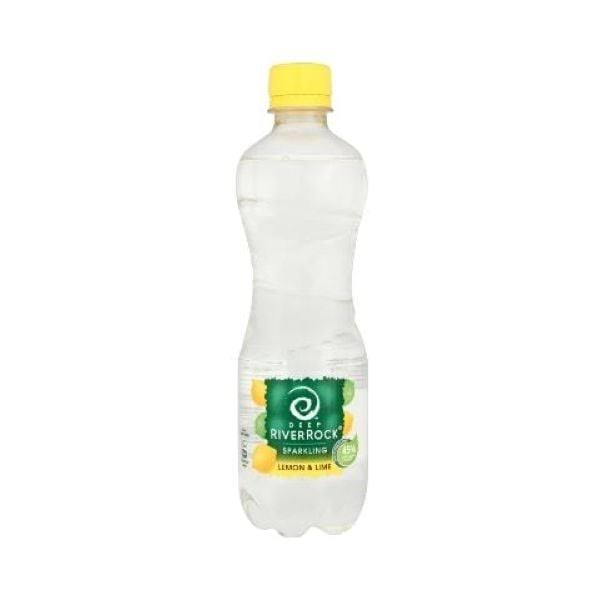 Deep RiverRock Sugar Free Sparkling Water Drink - 500ml, Lemon & Lime