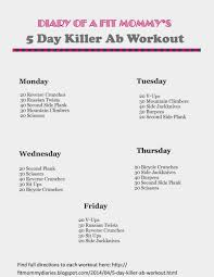 Diary of a Fit Mommy 5 Day Killer Ab Workout