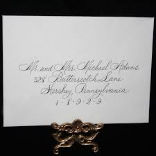 Spencerian Calligraphy Envelope Addressing Wedding Addressing Dip