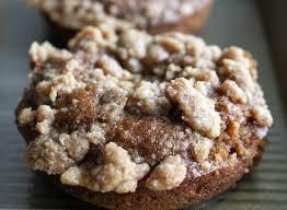 Pumpkin Cake Mix Donuts by Baked Pumpkin Donuts With Coffee Cake Streusel U0026 Maple Glaze