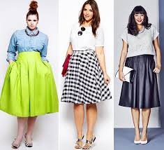Stylish Plus Size Outfit Ideas For Summer 2014 Midi Skirts