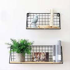 unho wandregal metall 2er set schweberegal dekorative regale für wohnzimmer schlafzimmer küche und flur wandmontage pro regal bis 15 kg belastbar
