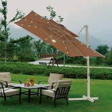 Square fset Patio Umbrella Over Patio Table And Chairs Set And