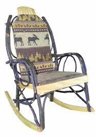 Amish Bentwood Rocker Cushion Set - Brown Moose Fabric | Home Decor ...