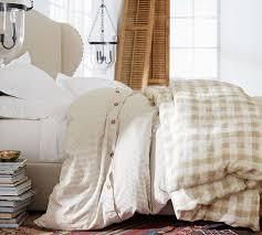 Wheaton Stripe Duvet Cover & Sham Flax
