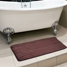 Bathroom Rug Runner 24x60 by Amazon Com Lavish Home Memory Foam 24 By 60 Inch Bath Mat White