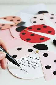 DIY Ladybug Party Invites Via Marie Morolle I Would Use These As Thank You Notes Well