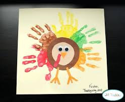 Preschool Crafts For Kids Thanksgiving Rainbow Turkey Craft Projects Toddlers Art Work