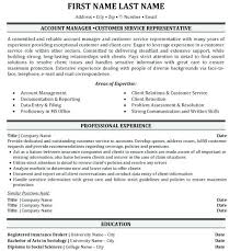 Sample Account Management Resume Executive Manager Mesmerizing Template Job Description