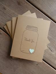 Items Similar To 4 Mason Jar Thank You Cards Mint Green Wedding Rustic Card Heart On