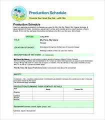 Production Schedule Template Film By Bracken Google Manufacturing